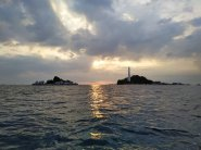 Pulau Lengkuas terlihat dari kejauhan